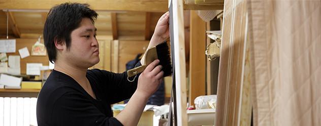 京都は表具師にとってのベストフィールド